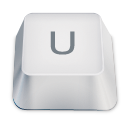 Letter Uppercase U Emoticon