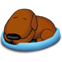 Sleeping Old Dog Emoticon