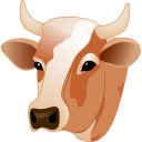 Cow Head Emoticon