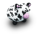 CowBlackPorcelaine Emoticon