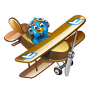 Twitter Plane Brown Emoticon