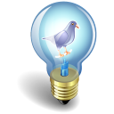 Twitter Bulb Purple Emoticon