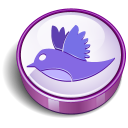 Twitter Bird Sign Purple Emoticon