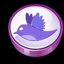 Twitter Bird Sign Purple Emoticon