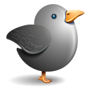 Twitter Bird Grey Emoticon