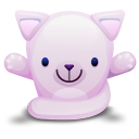 Cat Pink Emoticon