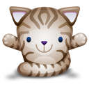 Cat Brown Emoticon