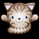 Cat Brown Emoticon