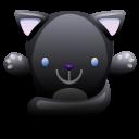 Cat Black Emoticon