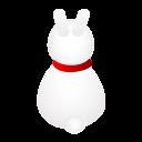 Rabbit Back Emoticon