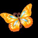 Butterfly Orange Emoticon