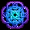 Purpleblue Circleknot Emoticon