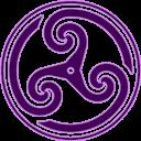 Purple Wheeled Triskelion 2 Emoticon