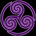 Purple Wheeled Triskelion 1 Emoticon