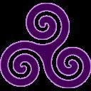 Purple Triskele Emoticon