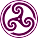 Mauve Wheeled Triskelion 2 Emoticon