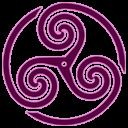 Mauve Wheeled Triskelion 1 Emoticon