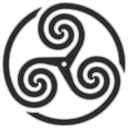 Grey Wheeled Triskelion 1 Emoticon