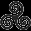 Grey Triskele Emoticon