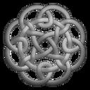 Grey Circleknot Emoticon