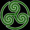 Green Wheeled Triskelion 1 Emoticon