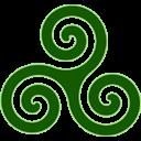 Green Triskele Emoticon