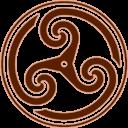 Brown Wheeled Triskelion 2 Emoticon