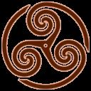 Brown Wheeled Triskelion 1 Emoticon
