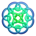 Bluegreen Circleknot Emoticon