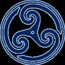 Blue Wheeled Triskelion 2 Emoticon