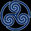 Blue Wheeled Triskelion 1 Emoticon