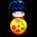 Kokeshi Red Emoticon