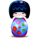 Kokeshi Pink Emoticon
