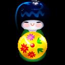 Kokeshi Green Emoticon