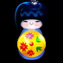 Kokeshi Blue Emoticon