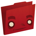 Folder Red Emoticon
