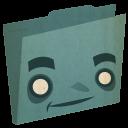 Folder Blue Emoticon