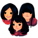 Three Girls Emoticon
