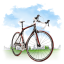 Travel Bicycle Emoticon