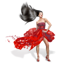 Girls Red Dress Emoticon