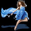 Girls Blue Dress Emoticon