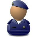 Elite Captain Blue Shielded Emoticon