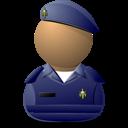 Elite Captain Blue Shielded Emoticon