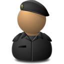 Elite Captain Black Emoticon