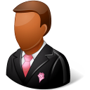 Wedding Groomsman Dark Emoticon