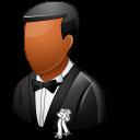 Wedding Groom Dark Emoticon