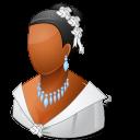 Wedding Bride Dark Emoticon