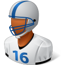 Sport Football Player Male Dark Emoticon