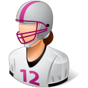 Sport Football Player Female Light Emoticon