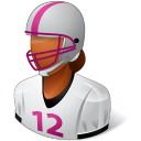 Sport Football Player Female Dark Emoticon